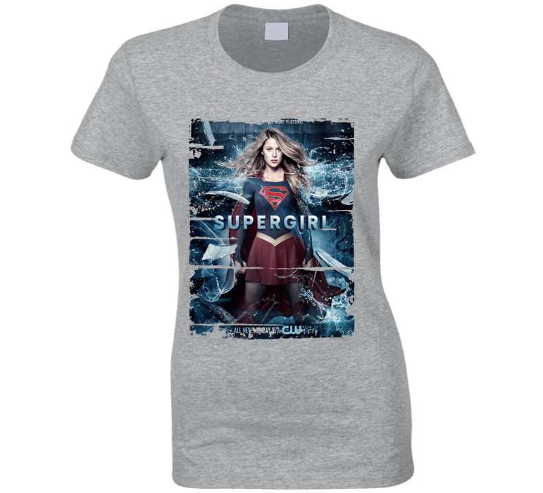Supergirl Season 2 Tv Show Worn Look Science Fiction Cool T Shirt