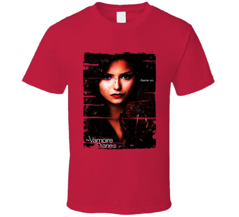 Katherine Pierce Vampire Diaries Tv Show Worn Look Drama Series T Shirt