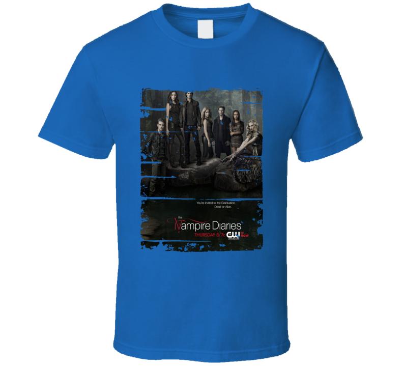 The Vampire Diaries Season 4 Tv Show Worn Look Drama Series T Shirt