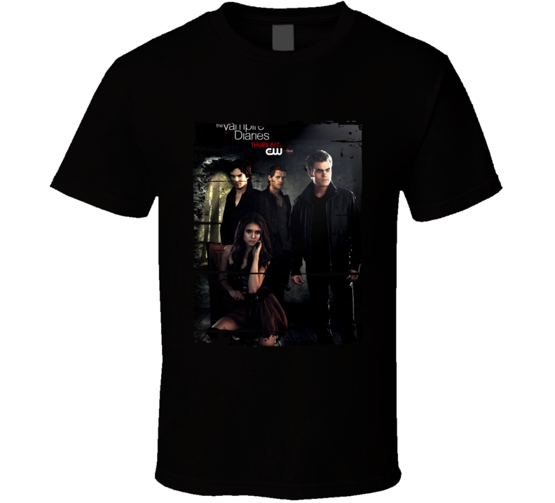 The Vampire Diaries Season 6 Tv Show Worn Look Drama Series T Shirt