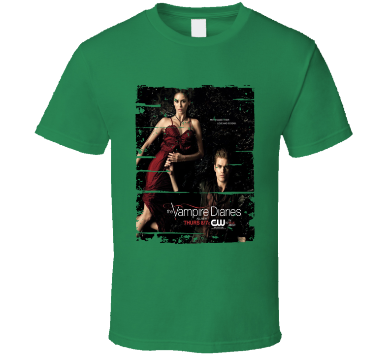 The Vampire Diaries Season 2 Tv Show Worn Look Drama Series T Shirt