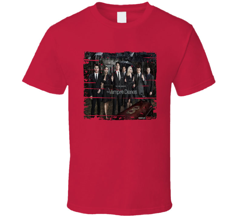 The Vampire Diaries Season 8 Tv Show Worn Look Drama Series T Shirt