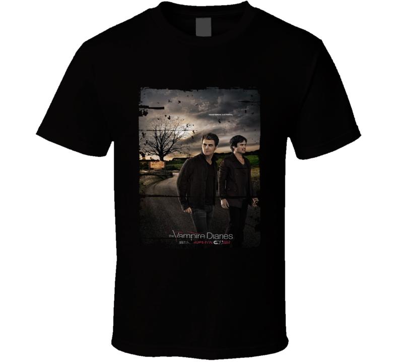 The Vampire Diaries Season 7 Tv Show Worn Look Drama Series T Shirt