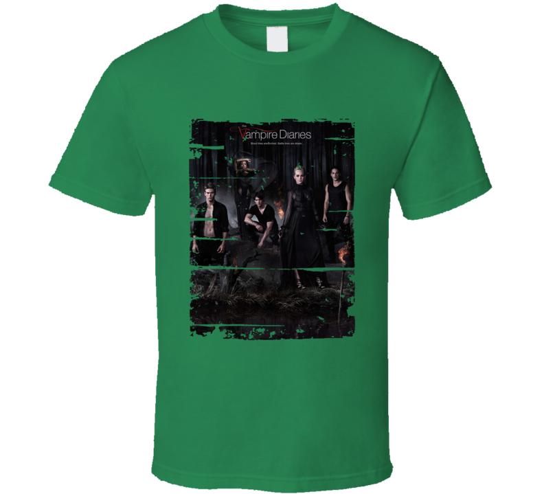 The Vampire Diaries Season 5 Tv Show Worn Look Drama Series T Shirt