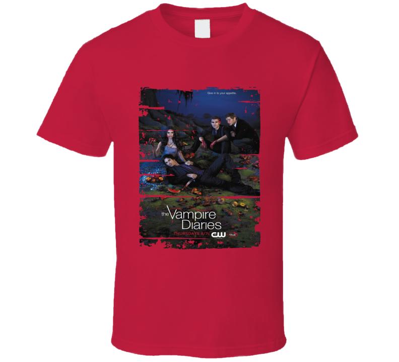 The Vampire Diaries Season 3 Tv Show Worn Look Drama Series T Shirt