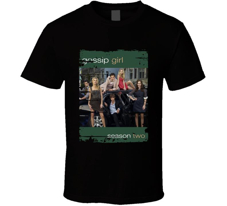 Gossip Girl Season 2 Tv Show Worn Look Drama Series Cool T Shirt