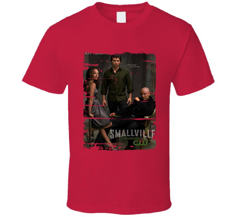 Smallville Season 6 Tv Show Worn Look Drama Series  T Shirt