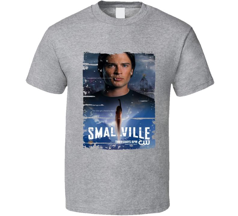 Smallville Season 7 Tv Show Worn Look Drama Series Cool T Shirt