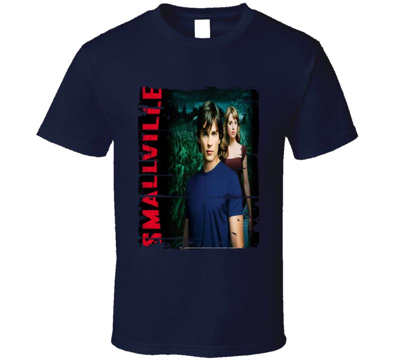 Smallville Season 4 Tv Show Worn Look Drama Series  T Shirt