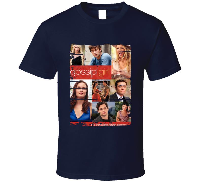 Gossip Girl Season 4 Tv Show Worn Look Drama Series Cool T Shirt