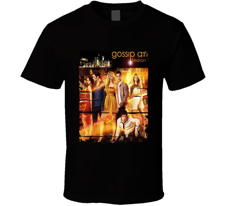 Gossip Girl Season 1 Tv Show Worn Look Drama Series  T Shirt
