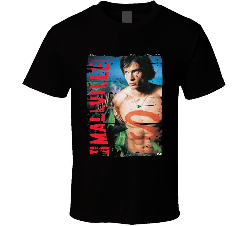 Smallville Season 1 Tv Show Worn Look Science Fiction Series  T Shirt