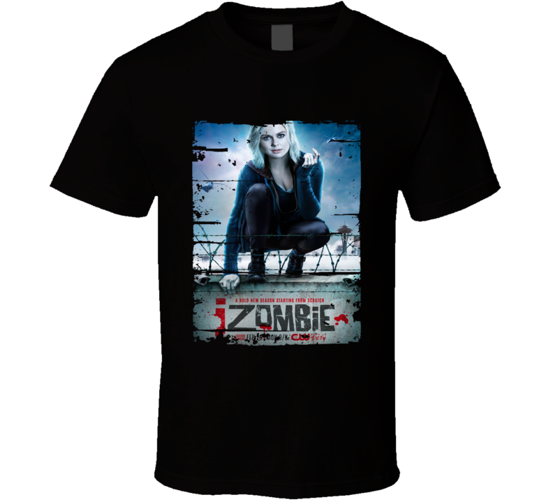 Izombie Horror Tv Show Worn Look Drama Series Cool T Shirt