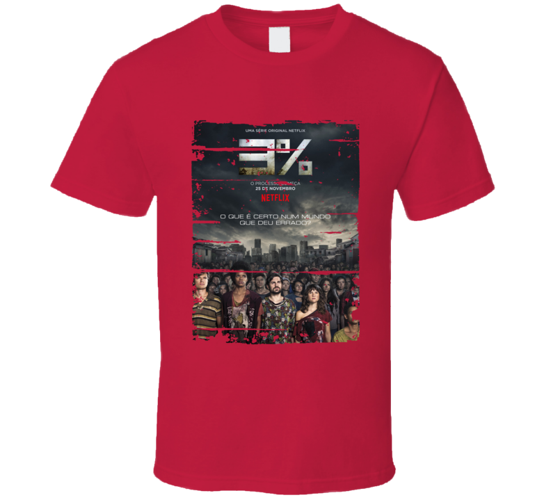 The 3 Percent Tv Show Worn Look Cool Series T Shirt