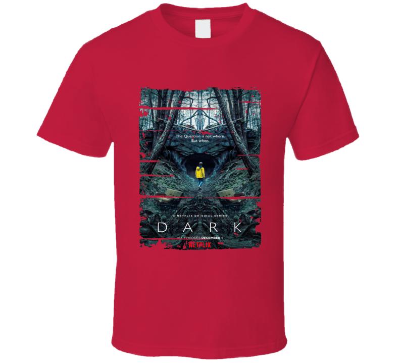 Dark Tv Show Worn Look Cool Science Fiction Series T Shirt