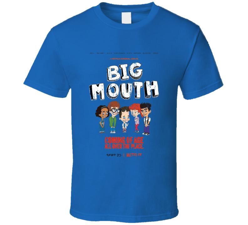 Big Mouth Worn Look Tv Show Cartoon Series T Shirt