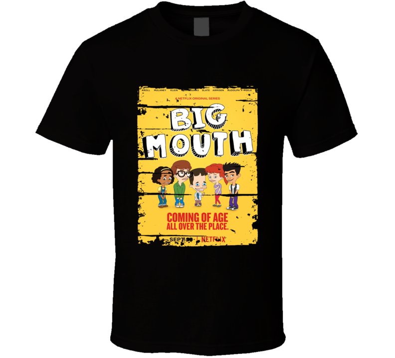 Big Mouth Worn Look Tv Show Cool Series T Shirt
