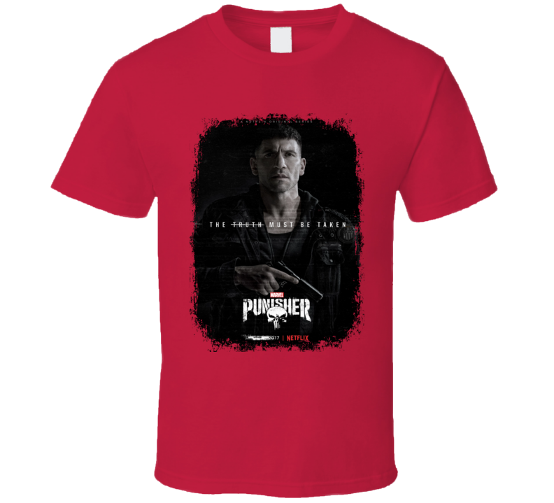 The Punisher Worn Look Tv Show Cool Series T Shirt