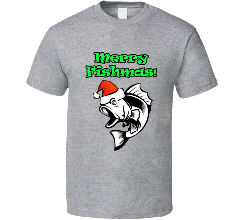 Merry Fishmas Fishing Gift T-shirt