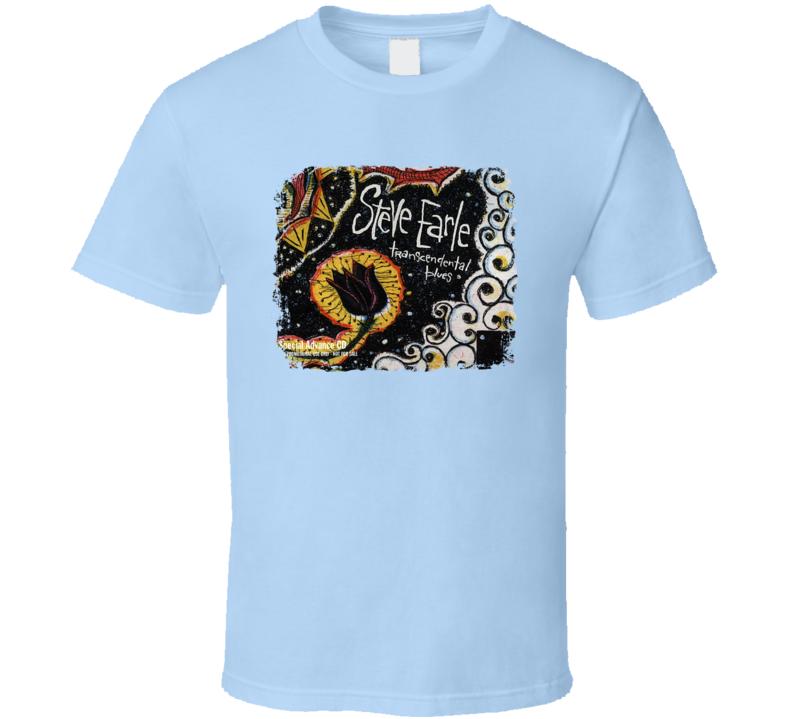 Steve Earle Transcendental Blues Great Country Album Cool Worn T shirt