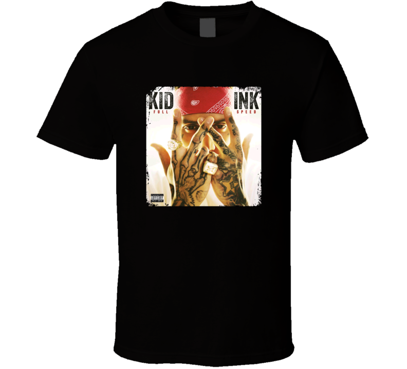 Kid Ink Usher And Tinashe Full Speed Worn Look Album Cover T Shirt