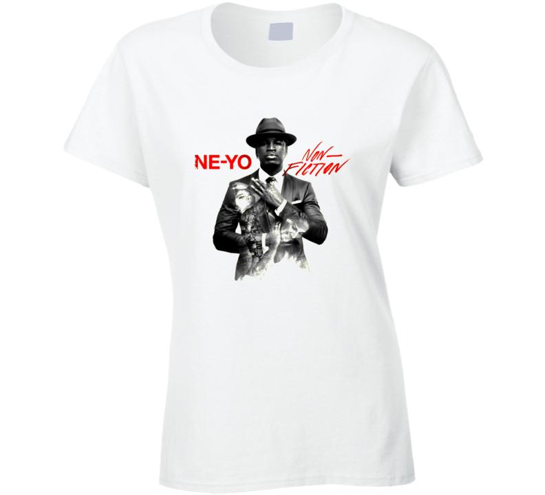 Ne Yo Featuring Juicy J Non Fiction Worn Look Album Cover T Shirt