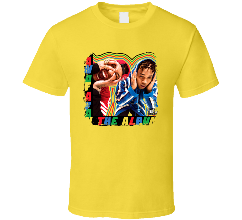 Chris Brown And Tyga Fan Of A Fan Worn Look Album Cover T Shirt