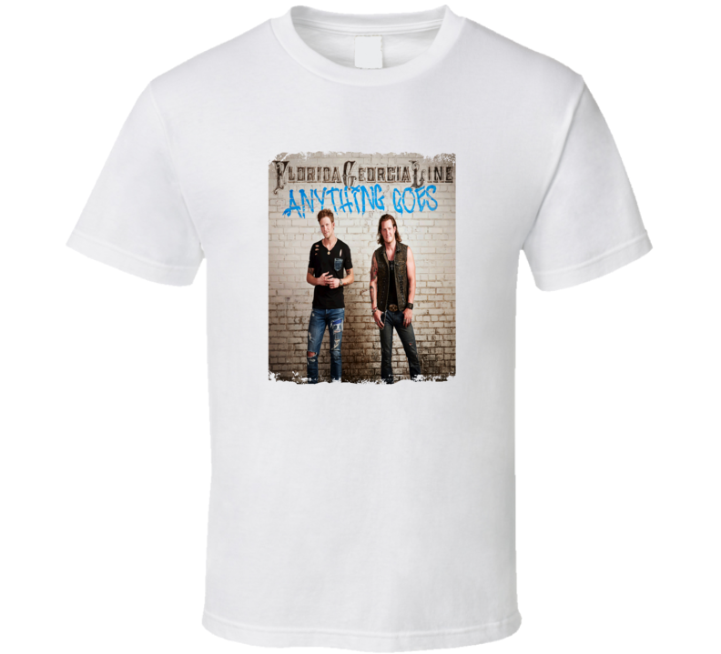 Florida Georgia Line Anything Goes Worn Look Album Cover T Shirt