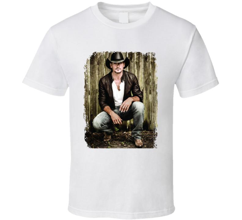 Tim Mcgraw Sundown Heaven Town Worn Look Album Cover T Shirt