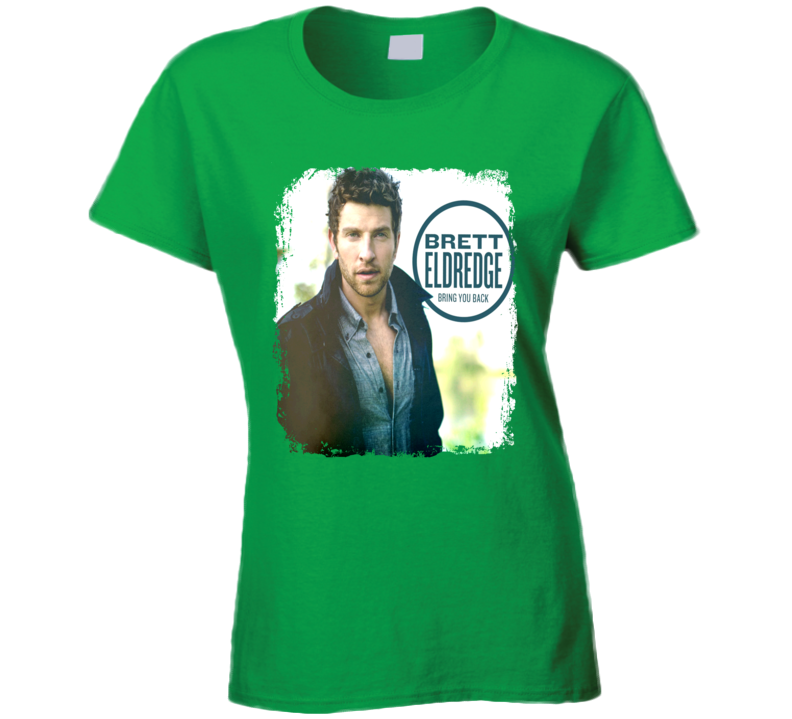 Brett Eldredge Bring You Back Worn Look Album Cover T Shirt