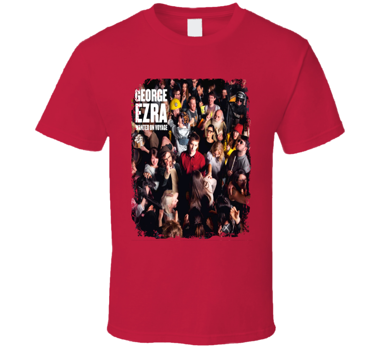 George Ezra Wanted On Voyage Worn Look Album Cover T Shirt
