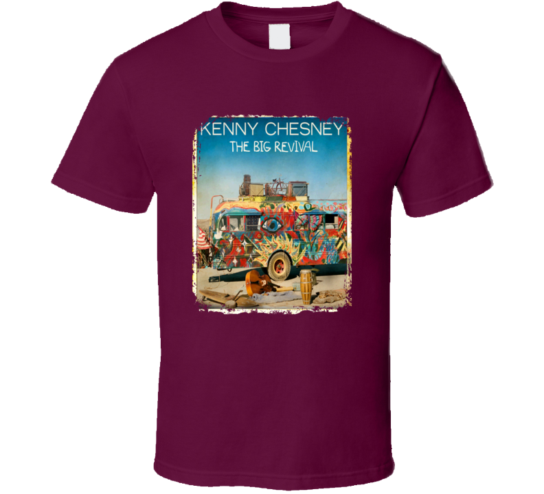 Kenny Chesney The Big Revival Worn Look Album Cover T Shirt