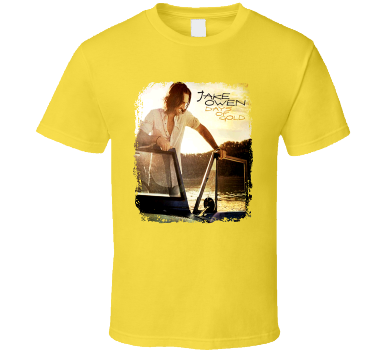 Jake Owen Days Of Gold Worn Look Album Cover T Shirt