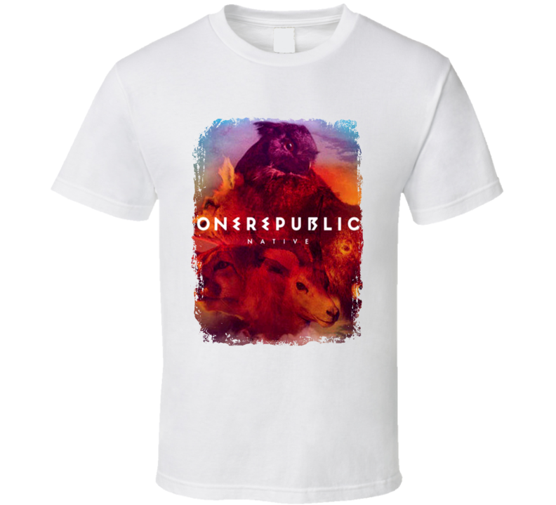 Onerepublic Native Worn Look Album Cover T Shirt