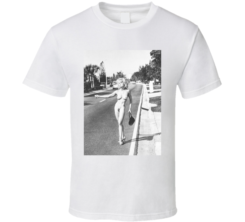 Madonna Naked Hitch Hiking T Shirt as worn by Miley Cyrus at Met Gala