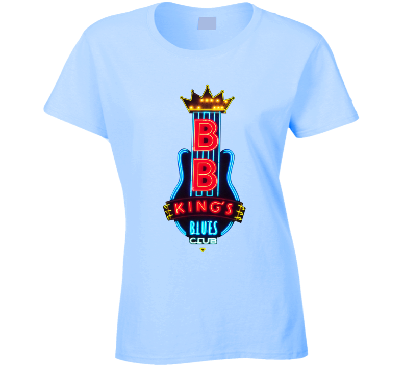 B.B. King's Blues Club Memphis Neon Sign Ladies T Shirt