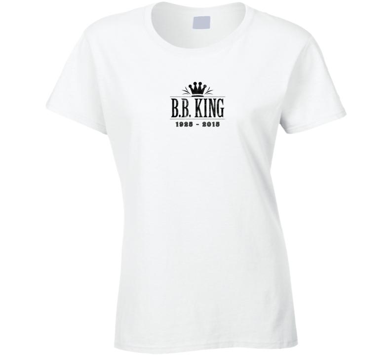 B.B. King of Blues Memorial Tribute Aged Look Ladies T Shirt