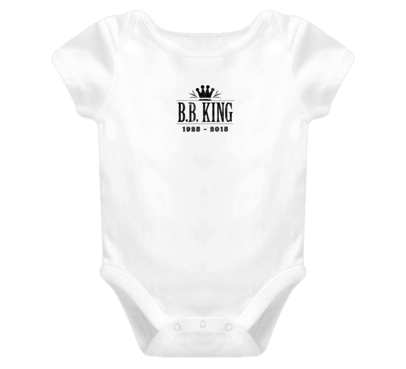 B.B. King of Blues Memorial Tribute Aged Look Baby One Piece Onesie Baby One Piece