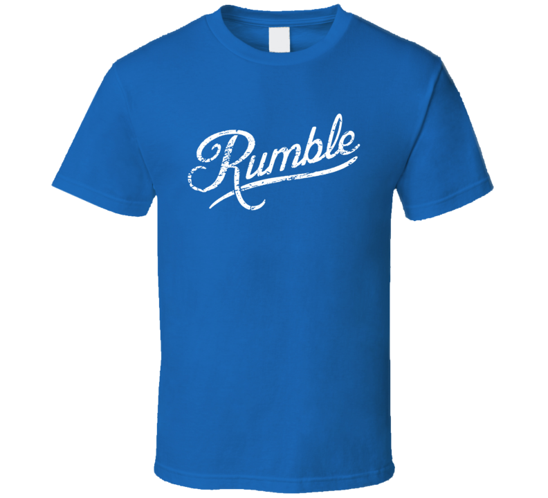 Anthony Rumble Johnson Walkout Daniel Cormier Fight Fan Blue T Shirt