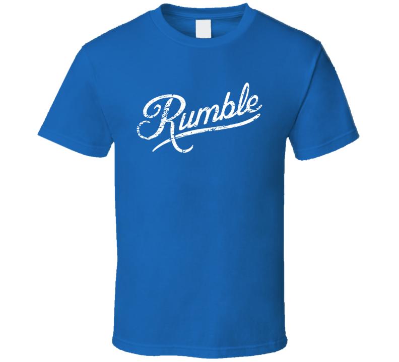 Anthony Rumble Johnson Walkout Daniel Cormier Fight Fan Blue T Shirt