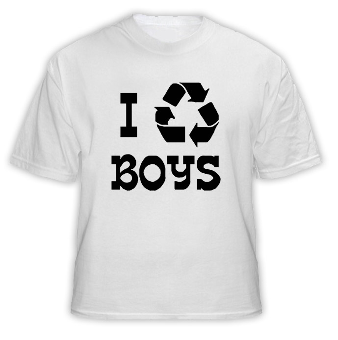 I Recycle Boys Funny T Shirt