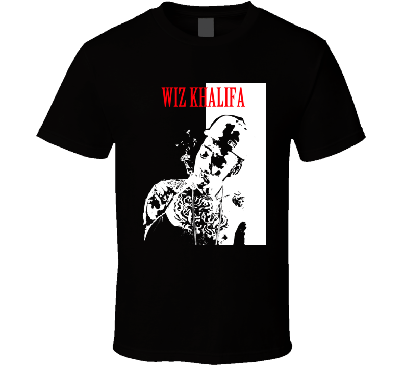 Wiz Khalifa Smoking Scarface Rap T Shirt