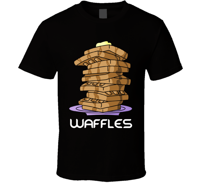 Waffles That Is All Cartoon Funny T Shirt