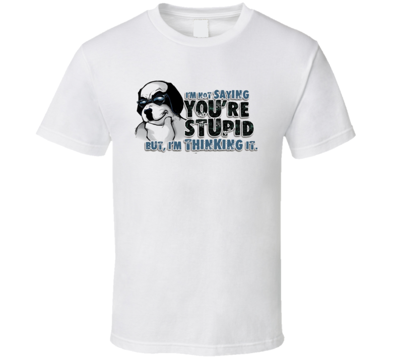Not Saying You're Stupid But Thinking It T Shirt