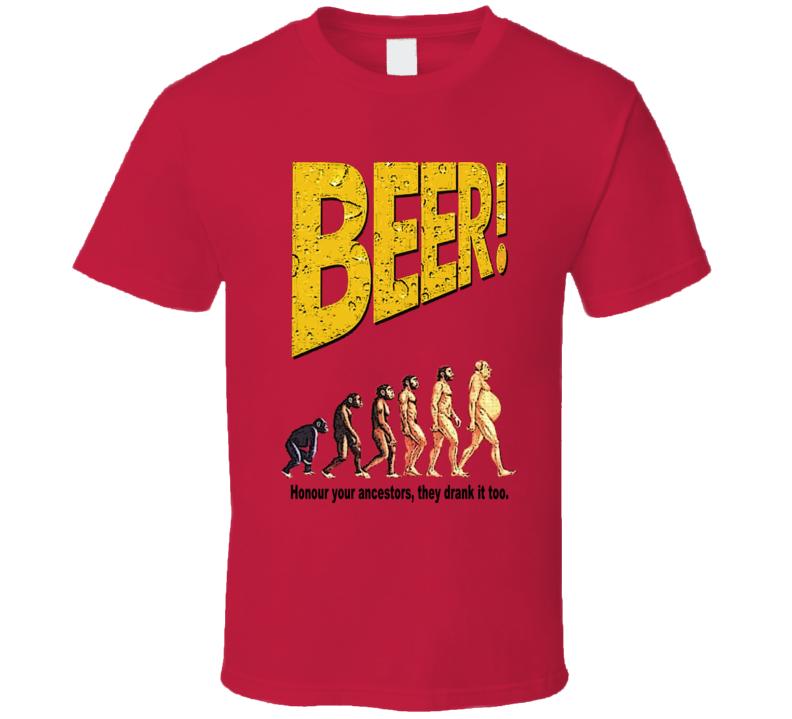Evolution of Beer Drinking Funny T Shirt