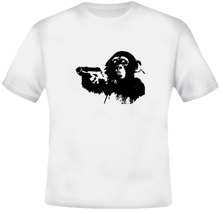 Armed Monkey T Shirt