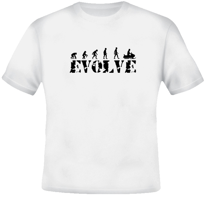 Snowmobile Evolution T Shirt