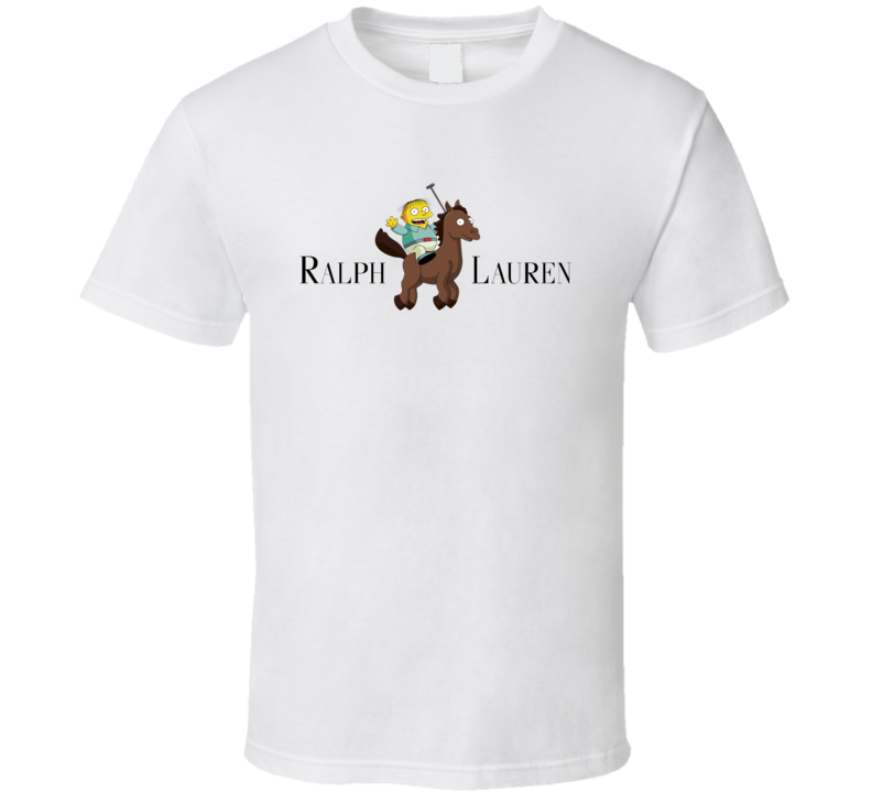 Ralph lauren parody the simpsons shirt t-shirt tee