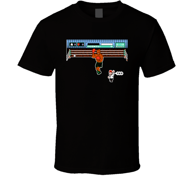 Mike Tyson Punchout TKO Video Game NES Nintendo Classic T Shirt