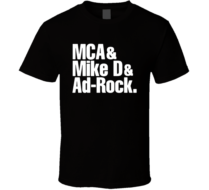 Beastie Boys MCA Mike D Ad-Rock Music Black T Shirt